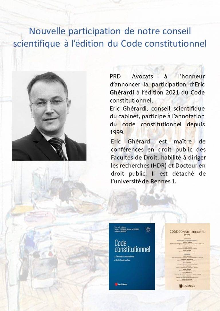 Our scientific council annual contribution to the edition of the constitutional code