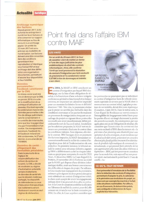 Full stop in the IBM v MAIF case