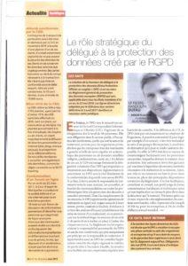 El papel estratégico del delegado de protección de datos creado por el GDPR