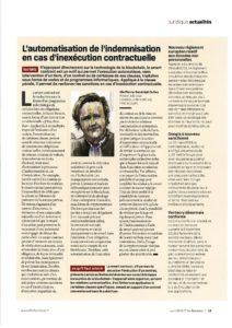 L'automatisation de l'indemnisation en cas d'inexécution contractuelle