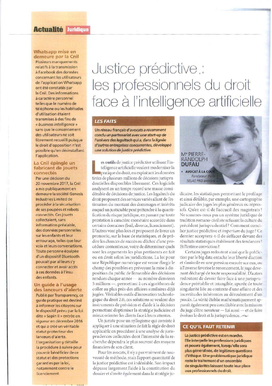 Predictive justice: legal professionals facing artificial intelligence