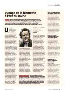 El uso de la biometría en la era del RGPD