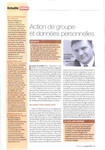 Group action and personal data