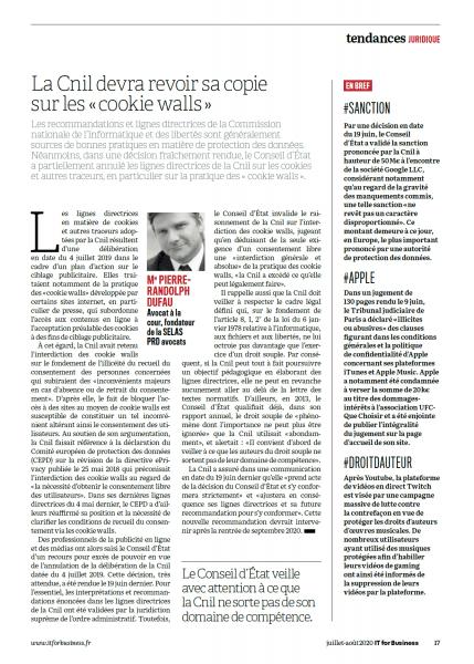 """El Cnil tendrá que revisar su copia en los """"muros de galletas"""""""