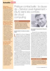 """Práctica contractual: la cláusula """"Service Level Agreement"""" en los contratos de computación en nube"""