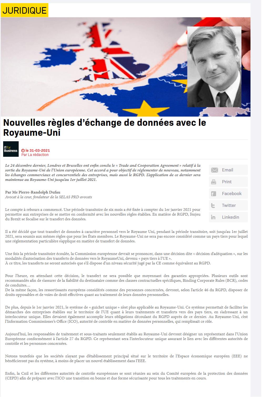 Nuevas normas de intercambio de datos con el Reino Unido
