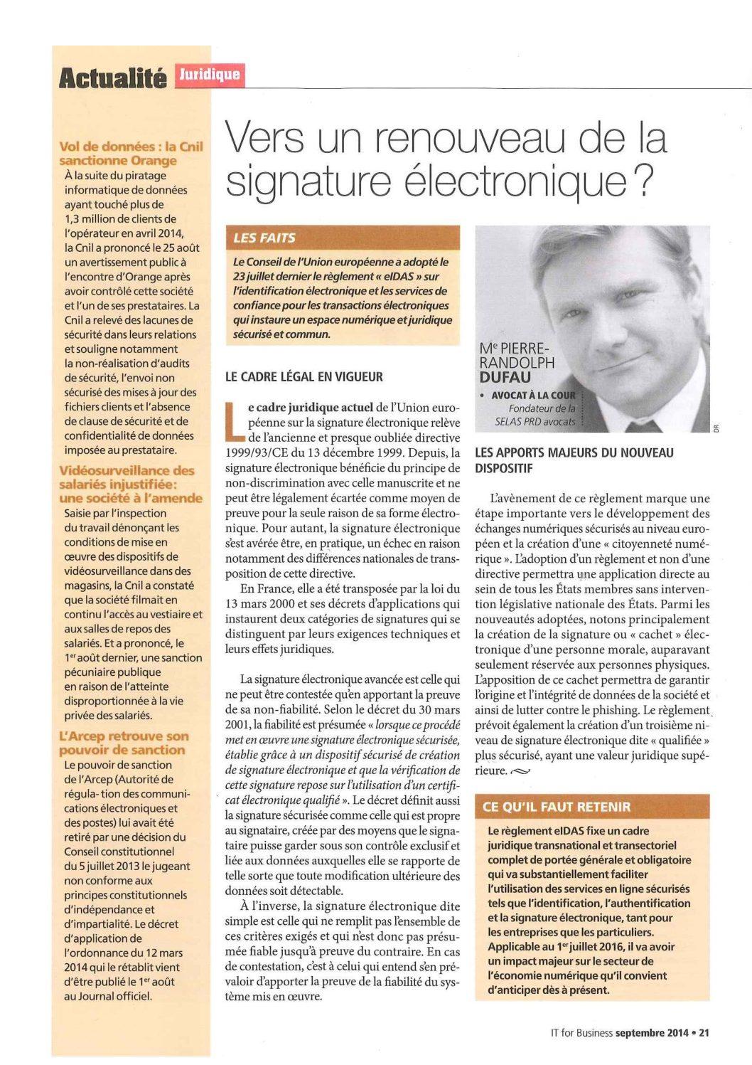 Vers un renouveau de la signature électronique?