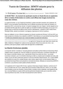 Tuerie de Chevaline: BFMTV relaxée pour la diffusion des photos