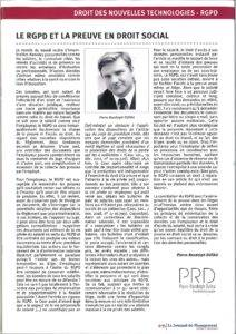 El GDPR y las pruebas en el derecho laboral