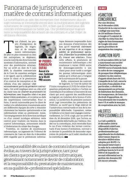 Panorama de la jurisprudencia sobre contratos informáticos
