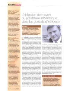 The IT provider's obligation of means in integration contracts