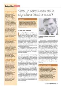 Towards a revival of the electronic signature?